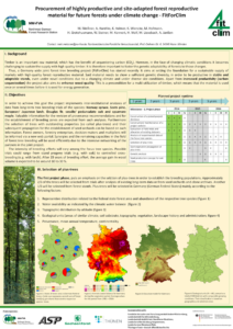 Procurement of highly productive and site-adapted forest reproductive material for future forests under climate change - FitForClim