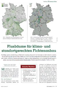 Plusbäume für klima- und standortgerechten Fichtenanbau